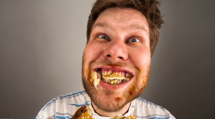 eat with Mouth Open