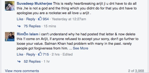 Arijit Singh Apology Letter 3