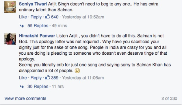 Arijit Singh Apology Letter 4